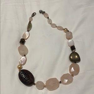 Rose quartz silpada necklace